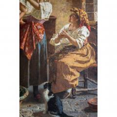 Eugenio Zampighi A Fine Italian Painting of the Baby s Bath by Eugenio Zampighi - 1434530