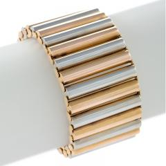 European Retro Pink and White Gold Link Bracelet - 717993