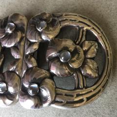 Evald Nielsen Evald Nielsen 830 Silver Rare Belt Buckle with Moonstones - 95978