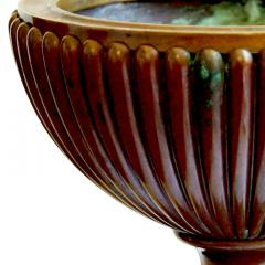 Evan Jensen Reeded and Footed Urn in Patinated Bronze by Evan Jensen - 649811