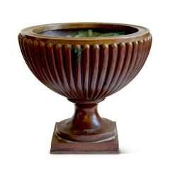 Evan Jensen Reeded and Footed Urn in Patinated Bronze by Evan Jensen - 649812