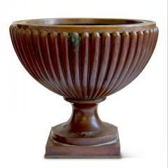 Evan Jensen Reeded and Footed Urn in Patinated Bronze by Evan Jensen - 649813