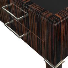 Evan Lobel Lobel Originals Desk in Macassar Ebony with Leather Top Made to Order - 1543512