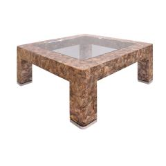 Evan Lobel Lobel Originals Nautilus Coffee Table In Lacquered Shells and Steel Sabots - 1171514