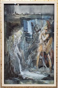 Everett Shinn Pair of 1939 Watercolors by American artist Everett Shinn - 1068637