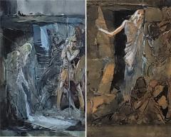 Everett Shinn Pair of 1939 Watercolors by American artist Everett Shinn - 1069049
