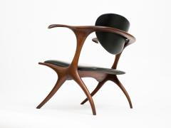 Evert Sodergren Early and Rare Evert Sodergren Sculptured Studio Craft Chair - 196449