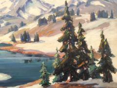 Evylena Nunn Miller Snow Capped Mountains - 1643043