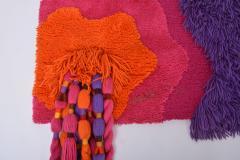 Ewald Kr ner Colourful 1970s German Artists Wall Rug by Ewald Kr ner for Schloss Hackhausen - 2140439