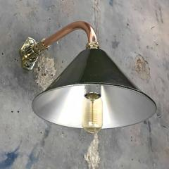 Ex British Army Cantilever Wall Lamp with Original Green Shade - 960576