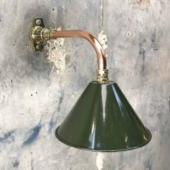 Ex British Army Cantilever Wall Lamp with Original Green Shade - 960580
