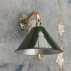 Ex British Army Cantilever Wall Lamp with Original Green Shade - 960581