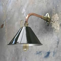 Ex British Army Cantilever Wall Lamp with Original Green Shade - 960583