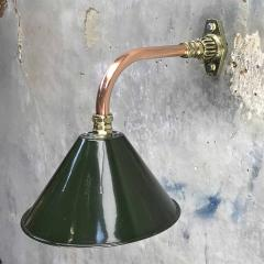 Ex British Army Cantilever Wall Lamp with Original Green Shade - 960585