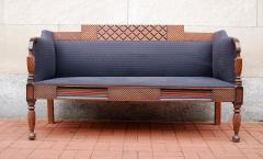 Exceptional Carved and Painted Neoclassical Country Settee - 407503