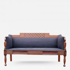 Exceptional Carved and Painted Neoclassical Country Settee - 408025