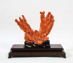 Exceptional Chinese Carved Coral Figural Group of Female Immortals Qing Dynasty - 2137948