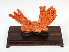 Exceptional Chinese Carved Coral Figural Group of Female Immortals Qing Dynasty - 2137955