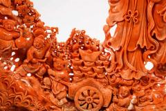 Exceptional Chinese Carved Coral Figural Group of Female Immortals Qing Dynasty - 2137958