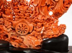 Exceptional Chinese Carved Coral Figural Group of Female Immortals Qing Dynasty - 2137959
