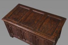 Exceptional Elizabeth I Carved Oak Coffer - 1012131