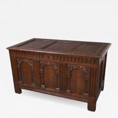 Exceptional Elizabeth I Carved Oak Coffer - 1012489