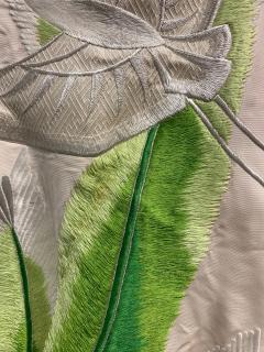 Exceptional Embroidered Brocade Vintage Japanese Ceremonial Kimono - 1201192