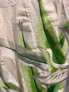 Exceptional Embroidered Brocade Vintage Japanese Ceremonial Kimono - 1201193