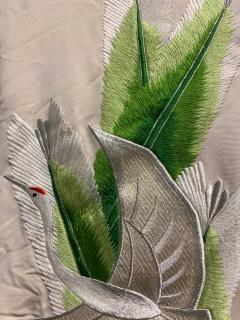 Exceptional Embroidered Brocade Vintage Japanese Ceremonial Kimono - 1201194