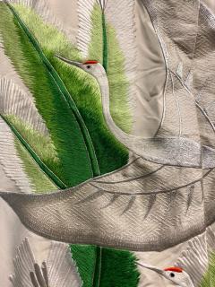 Exceptional Embroidered Brocade Vintage Japanese Ceremonial Kimono - 1201195