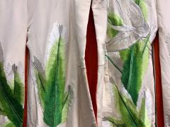 Exceptional Embroidered Brocade Vintage Japanese Ceremonial Kimono - 1201196