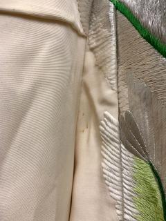 Exceptional Embroidered Brocade Vintage Japanese Ceremonial Kimono - 1201199