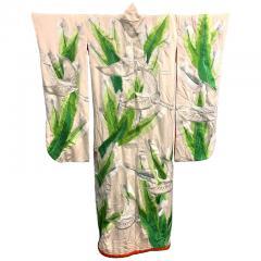 Exceptional Embroidered Brocade Vintage Japanese Ceremonial Kimono - 1201645