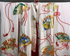 Exceptional Embroidered Vintage Japanese Ceremonial Kimono - 1206976