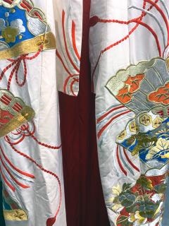 Exceptional Embroidered Vintage Japanese Ceremonial Kimono - 1206981