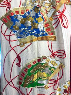 Exceptional Embroidered Vintage Japanese Ceremonial Kimono - 1206987