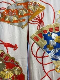 Exceptional Embroidered Vintage Japanese Ceremonial Kimono - 1206996