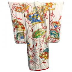 Exceptional Embroidered Vintage Japanese Ceremonial Kimono - 1208980