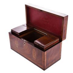 Exceptional George III Inlaid Tea Caddy - 753826