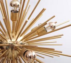 Exceptional Huge Brass Sputnik Chandelier - 543525