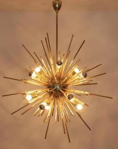 Exceptional Huge Brass Sputnik Chandelier - 543528
