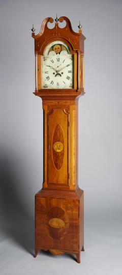 Exceptional Inlaid Clock from New Jersey - 946248