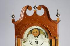 Exceptional Inlaid Clock from New Jersey - 946249