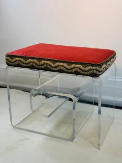 Exceptional Lucite Bench with Greek Key Design - 1143091