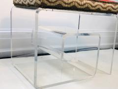 Exceptional Lucite Bench with Greek Key Design - 1143092