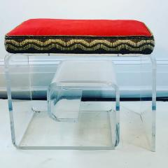 Exceptional Lucite Bench with Greek Key Design - 1143094
