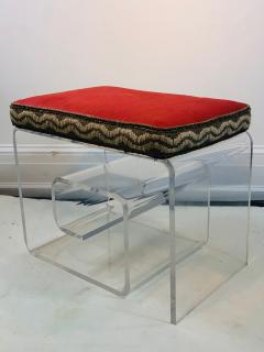 Exceptional Lucite Bench with Greek Key Design - 1143098