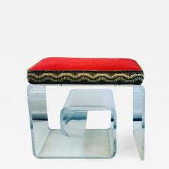 Exceptional Lucite Bench with Greek Key Design - 1143373