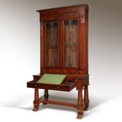 Exceptional Mahogany Bureau Bookcase from Baltimore Maryland Circa 1830 - 1515444