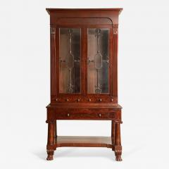 Exceptional Mahogany Bureau Bookcase from Baltimore Maryland Circa 1830 - 1518168